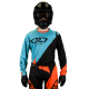 Maillot Motocross Tout-Terrain  GD20 Orange Turquoise