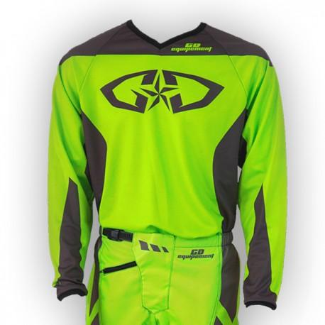 Promotion Cross Déstockage Gris Mx Maillot Jersey Moto Vertfluo Enduro c5ARj3q4L