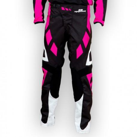 Pantalon GD18 Noir-Rose