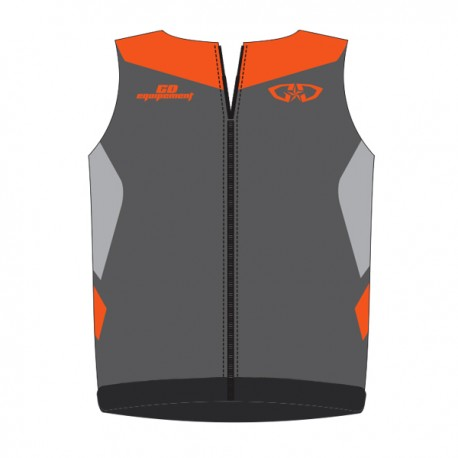 Bodywarmer GD18 Gris-OrangeFluo