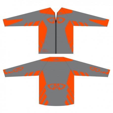 Casaque Polaire GD18 Gris-OrangeFluo
