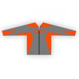 Coupe-Vent GD18 Gris-OrangeFluo
