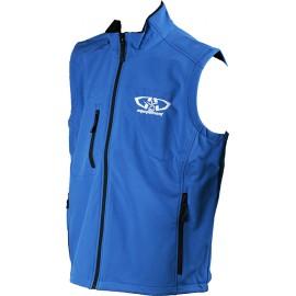 Bodywarmer softshell bleu