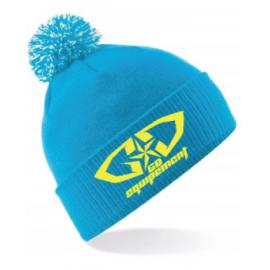 Bonnet GD Equipement bleu jaune fluo