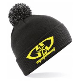 Bonnet GD Equipement noir jaune fluo