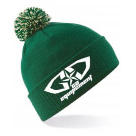 Bonnet GD Equipement vert blanc