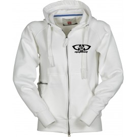 Sweat GD Equipement zippé à capuche blanc