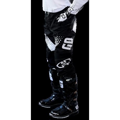 e5a501023673f Pantalon motocross GD19 GD Equipement 2019 Noir Blanc Enduro DH