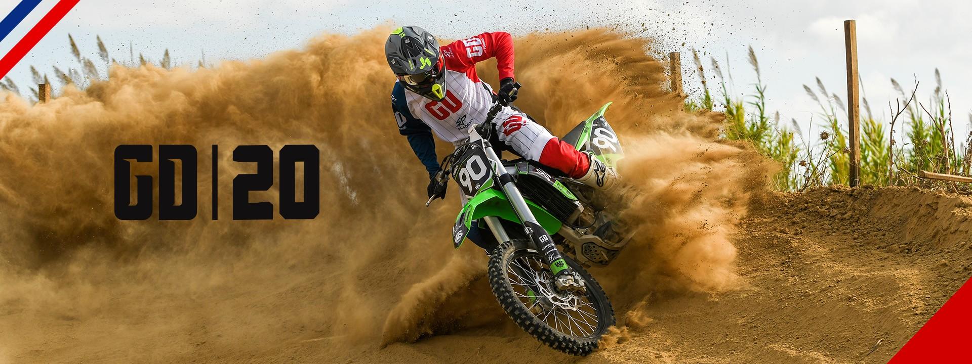 Tenue GD20 motocross - enduro - quad : pantalon - maillot - gants