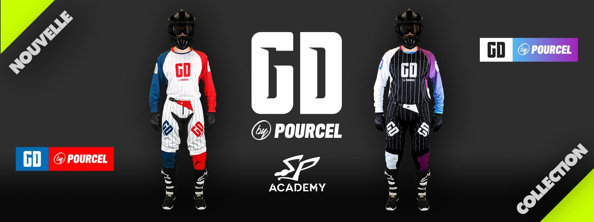 Tenue Pourcel : motocross - enduro - quad : pantalon - maillot - gants
