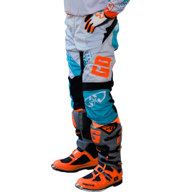 Pantalon GD19 Bleu Orange Fluo