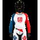 Maillot Motocross Tout-Terrain GD20 bleu blanc rouge Pourcel