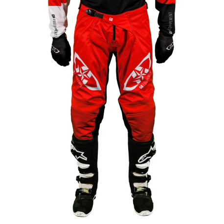 Pantalon Motocross MX Enduro Quad  GD20 Rouge Noir