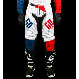 Pantalon Tout-Terrain GD20 Seb Pourcel Bleu Blanc Rouge