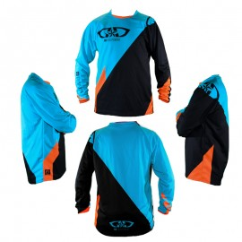 Maillot 100% Perso GD20 Orange Turquoise
