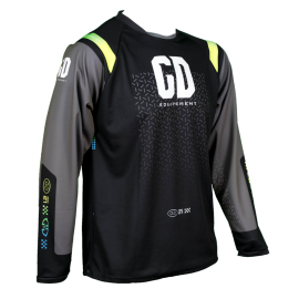 Maillot cross enduro GD21 Noir Fluo