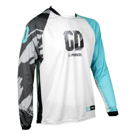 Maillot cross enduro GD21 Turquoise Seb Pourcel