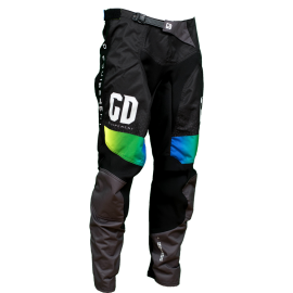 Pantalon cross enduro GD21 Noir Jaune Fluo