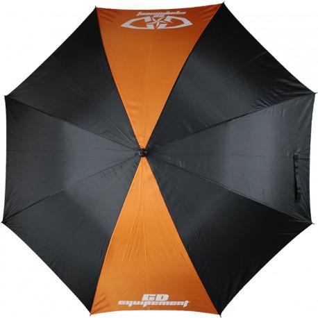 Parapluie noir-orange 120cm