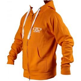Sweat GD Equipement zippé à capuche orange
