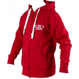 Sweat GD Equipement zippé à capuche rouge