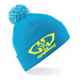 Bonnet bleu-jaune fluo