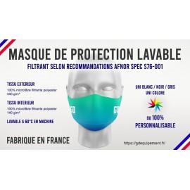 MASQUE DE PROTECTION FILTRANT LAVABLE MACHINE
