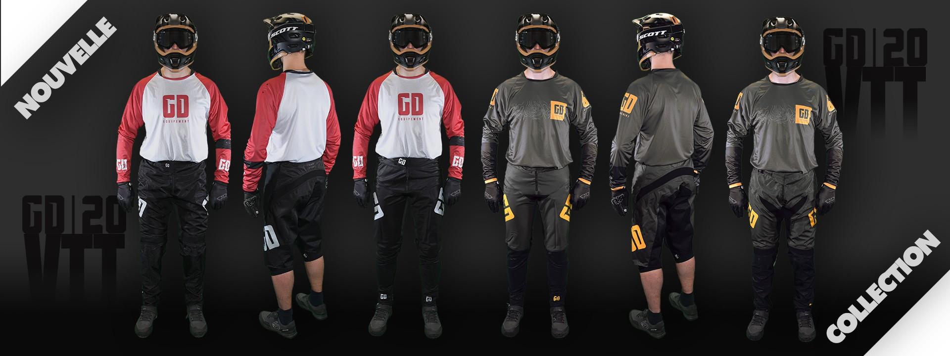 Tenue VTT enduro - DH - BMX - MTB : shorts - pantalon - maillot - gants