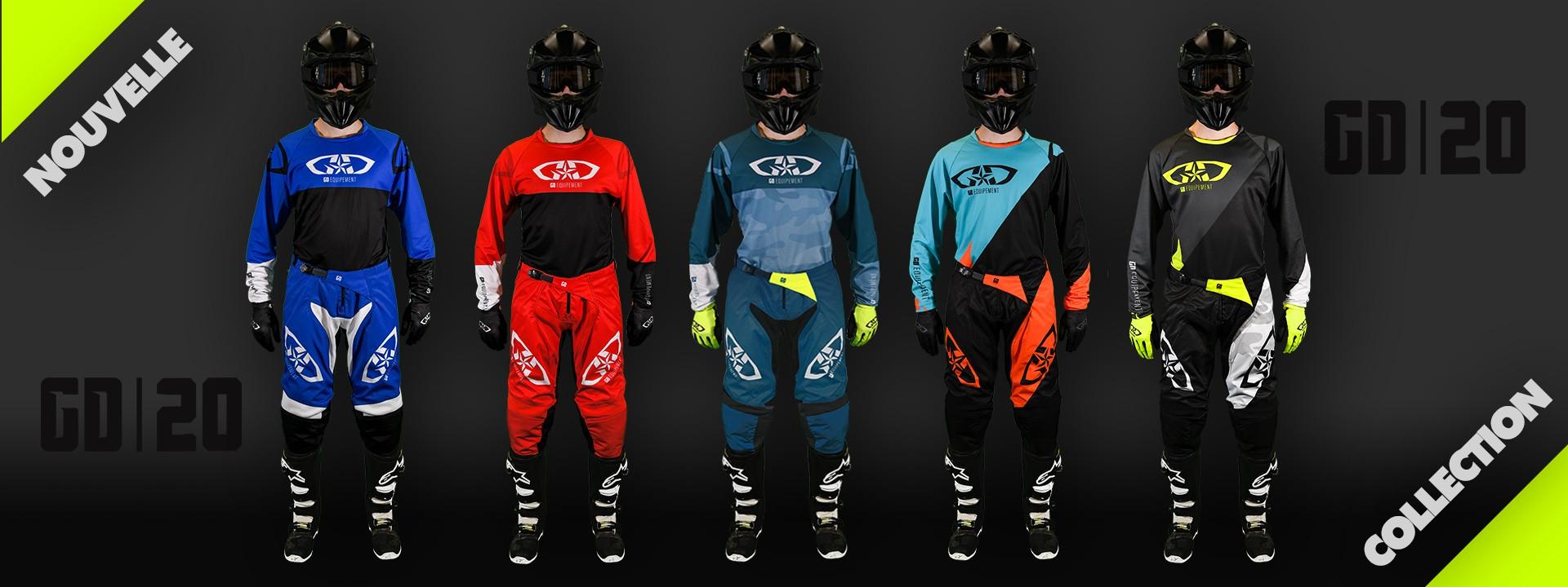 Equipement 2020 : tenue motocross MX SX - enduro - quad - VTT - DH - BMX
